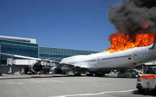 Во сне взорвался самолет в небе