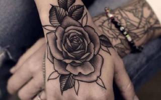 Что обозначает тату роза на кисти