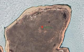 Пиктограмма дьявола на карте