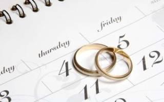 Самый лучший день для свадьбы