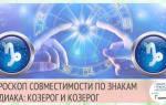 Гороскоп козерог с козерогом совместимость