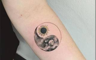 Хочу на луну татуировка