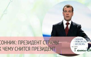 Сонник общаться с президентом