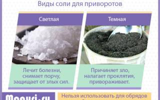 Как очистить соль для приворота