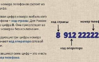 Сколько в номере должно быть цифр