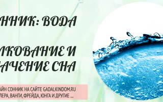 К чему снится вода — значение сна вода по соннику