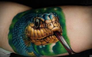 Что означает татуировка в виде змеи