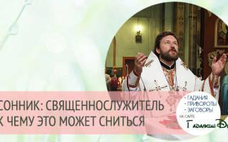 К чему снится батюшка в черной рясе Сонник: батюшка в доме, священник, служба в церкви