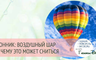 Сонник воздушный шар, видеть во сне с корзиной, значение сна